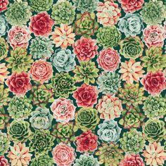 RJR Fabrics - Oasis 2886-001 RADIANT ROSETTES-CORAL
