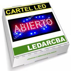 Cartel Led Alta Luminosidad Texto Abierto Led Rojo Azul - $ 449,99 en Mercado Libre Led, Texts, Red, Blue Nails, Free Market, Poster, Products, Argentina
