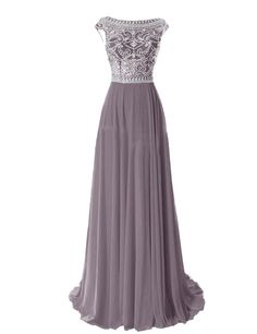 <3 For Mary - Tidetell Elegant Floor Length Bridesmaid Cap Sleeve Prom Evening Dresses at Amazon Women's Clothing store: