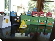 Angry Birds boxes...can be used for decorating or party favor boxes!