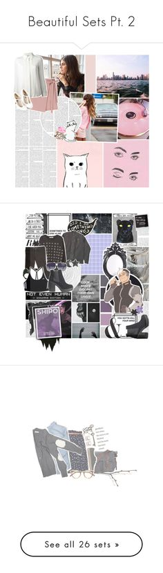 """""""Beautiful Sets Pt. 2"""" by the-one-sock-wonder ❤ liked on Polyvore featuring art, NLXL, Belle Maison, Citizens of Humanity, ASOS, MINKPINK, Lady Grey, adidas, Giorgio Armani and H&M"""