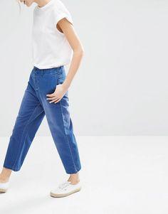Image 1 ofMonki Cropped Denim Trousers