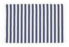 Deck Beach Towel, Navy & White on OneKingsLane.com