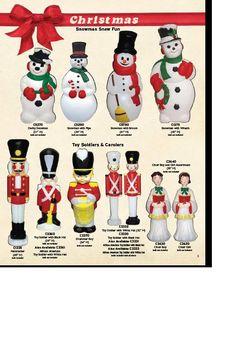 christmas blowmolds - Google Search