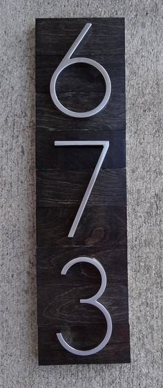 Unit house number plates   Office   Pinterest   Number  Mid century     House Numbers Plaque on Ebony Stained Wood by TheDetailed on Etsy