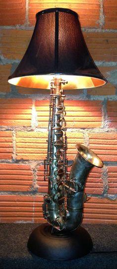 Dan Leap Designed Saxophone Lamp