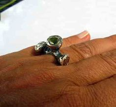 Organic Pink Green Diamond Ring by HotRoxCustomJewelry on Etsy, $1599.00