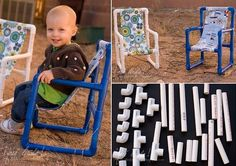 42 Amazing PVC DIY Ideas And Projects For Your Home and Garden --> DIY Toddler Chairs Made out of PVC Pipe