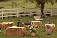 We did this for a Wild West party, cheap to buy haystacks from local farm shops & lots more seating + an added focal point for a themed or garden party :)
