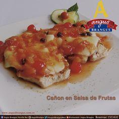 Hoy disfruta de un exquisito Lomo de Cerdo, con queso fundido y bañado en salsa de frutas. www.angusbrangus.com.co