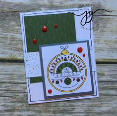 October Stamp of the Month Blog Hop - Christmas Tunes - Janna Gray, Close To My Heart Independent Consultant