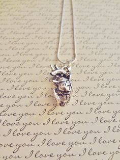 Human Anatomical Heart Necklace Anatomy Heart Necklace Gift for Doctor Med Student Nurse Cardiologist Firefighter Paramedic EMT by UniqueAnomaly on Etsy https://www.etsy.com/listing/227371793/human-anatomical-heart-necklace-anatomy