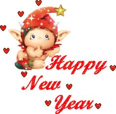 free happy new year son | Happy New Year Angel Scrap | Festival E-Greetings Graphics and wishing ...