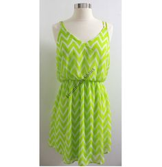 Hey, I found this really awesome Etsy listing at https://www.etsy.com/listing/129653883/lime-green-chevron-dress-cute-zig-zag