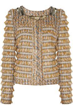 Matthew Williamson Fringed tweed jacket #theoutnet #fashionMath