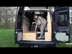 Episode 5: Bed, Wiring, Lights, Sink, Stove and Fridge. Claude Hay converting van to motorhome - YouTube