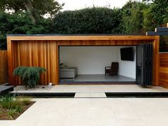 Separate dwelling reflects parts of house desig Image result for blACK CEDAR CLADDing