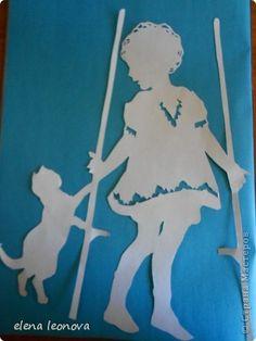 Картина, панно Вырезание, Вырезание силуэтное, Вытынанка: Дети Бумага День защиты детей. Фото 5