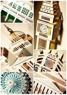 London Landmarks Laser Cut Pop-Up Cards