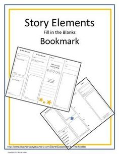 This is a FREE foldable bookmark with eight sections that students can use to record story elements as they read. By folding the paper in half, and then in half again, student create a bookmark that is always handy when they are ready to write. The story elements include characters, character traits, setting, problem and solution, and more. Students write, draw, and color to complete their bookmark.