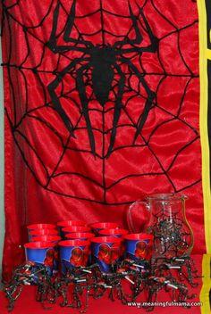 Superhero Party Food Ideas: Spiderman Theme Food