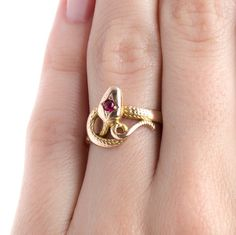 Iconic Victorian Era Snake Ring in Yellow and Rose Gold | Redbridge from Trumpet & Horn There's just something about this piece, and I love it.
