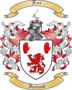 Fox Family Crest from Ireland