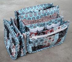 how cute is this Porta-Pockets PLUS trio by Paula Blass of Clay, AL? Paula said she totally loves the versatility of being able to use these components separately are all-together as shown!