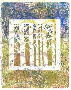 Gelli print, via Flickr.