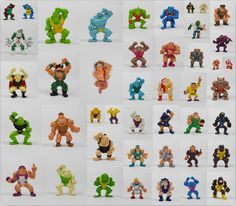 Monster Wrestlers In My Pocket - Mini Toy Figures - Meg - MIMP - Retro Toys