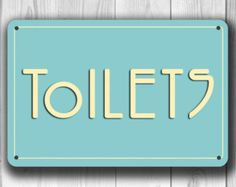RESTROOM SIGN Restroom Signs Toilet Sign Male par ClassicMetalSigns