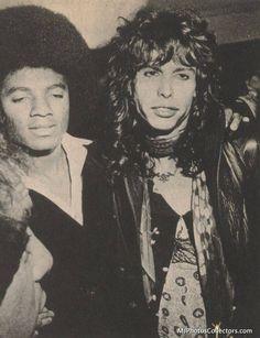 Michael Jackson & Steven Tyler (1977)