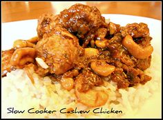 Cashew chicken in the Slow cooker!  A must try