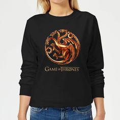 Game of Thrones Bronze Targaryen Women& Sweatshirt - Black - XXL - Black-female Got Merchandise, Game Of Thrones Merchandise, Games To Buy, Blood, Graphic Sweatshirt, Fire, History, Sweatshirts, Sweaters