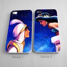 Aladin And Jasmine Princess Couples Phone Case iPhone 4/4S, 5/5S, 5C Series - Hard Plastic, Rubber Case