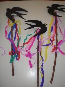 παιχνιδοκαμώματα στου νηπ/γειου τα δρώμενα: έθιμο χελιδόνας Spring Crafts, Art School, 3 D, March, Teaching, Drawings, Classroom Ideas, Outdoor Decor, Artist