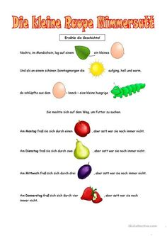 The little caterpillar Nimmersatt Toddler Preschool, Preschool Crafts, Kindergarten Activities, Learning Activities, Kindergarten Portfolio, Very Hungry Caterpillar, Eric Carle, Chenille, Kids And Parenting