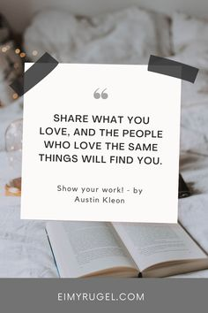 """This book teaches you the importance of start sharing your work and using your voice. How you can help and influence others. It doesn't matter your level of expertise, everyone can contribute something. Kleon advises you on how to share your work, find your audience, and give back to the community.I recommend reading this book and """"Steal like an artist."""" They compliment each other.This book teaches you how you can help and influence others. #book notes #summary #book"""