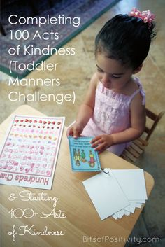 Focusing on Montessori manners techniques for the 100 Acts of Kindness Challenge is a perfect way to encourage both kindness and good manners in toddlers