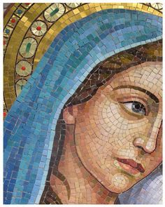 Your place to buy and sell all things handmade Mosaic Glass, Mosaic Tiles, Glass Art, Pintura Colonial, Sicis Mosaic, Jesus E Maria, Mosaic Portrait, Mosaic Artwork, Mosaic Madness