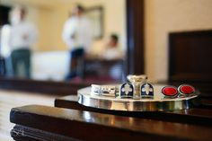 Wedding at The Royal Playa del Carmen, sweet groom and groomsmen details in the cuff links.   Mexico wedding photographers Del Sol Photography