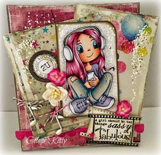 Colour Kitty: Music Girl, Whimsy Stamps