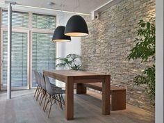 Déco Salon  salle à manger design chic table à manger en bois avec un banc