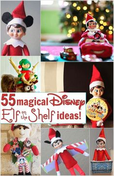 Disney Elf on the Shelf Ideas: 55 Magical Elf Scenarios Disney elf on the shelf ideas. I can't believe how many there are! I can already start planning out next year! Christmas Elf, All Things Christmas, Christmas Crafts, Christmas Ideas, Christmas Bingo, Magical Christmas, Christmas Christmas, Christmas Presents, Halloween Crafts