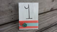 Rustic table numbers barn wedding country weddng by PineNsign