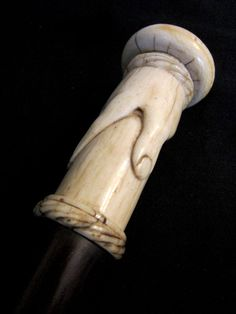 Ivory Hand Walking Stick