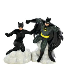 Look at this Batman & Catwoman Salt & Pepper Shakers on #zulily today!