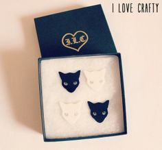 Cat Jewelry // Mixnmatch Kitty Collar Tips by FelineFataleShop, £20.00