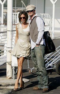 Виктория и Дэвид Бекхэм , lovely cap!!