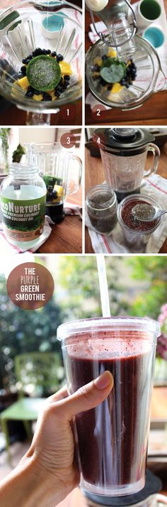 Freeze Leafy Greens A Green Smoothie Recipe (pineapple, blueberries, frozen kale) - Little Green Dot click now for more info. Good Smoothies, Green Smoothie Recipes, Juice Smoothie, Breakfast Smoothies, Smoothie Drinks, Green Smoothies, Superfood Smoothies, Vegaterian Recipes, Blender Recipes